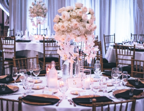 decoración para matrimonio centros de mesa